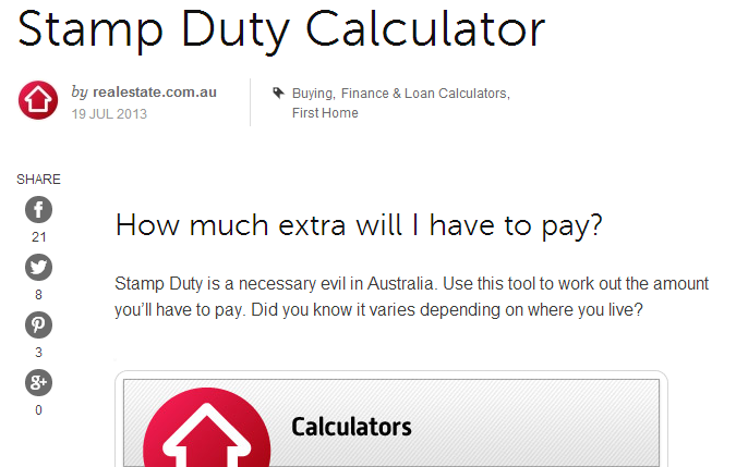 Stamp Duty Calculator   Calculate stamp duty for NSW  Victoria   others